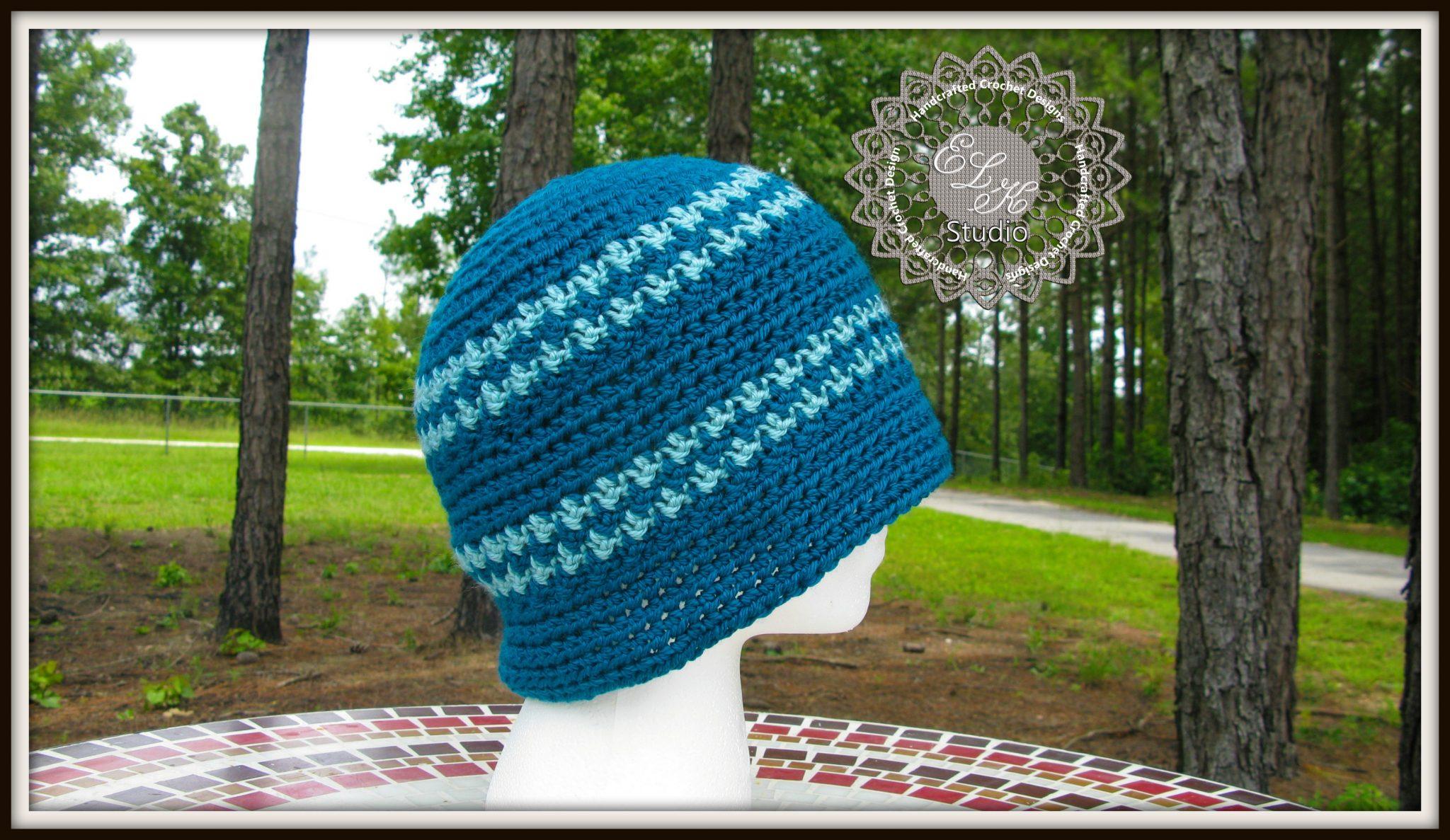 Free Crochet Hounds Tooth Hat Pattern - ELK Studio ...