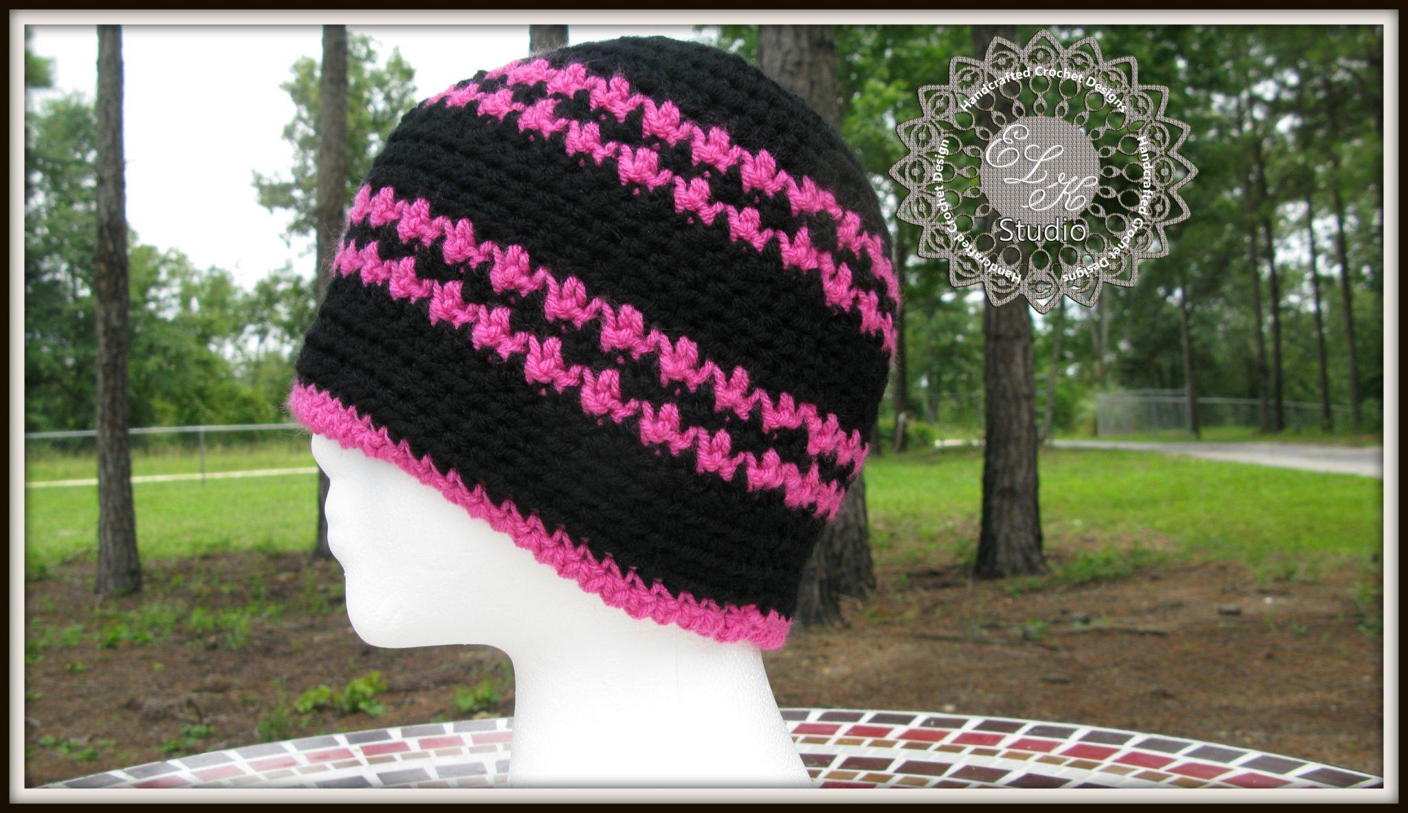 Free Crochet Hounds Tooth Hat Pattern - ELK Studio - Handcrafted ...