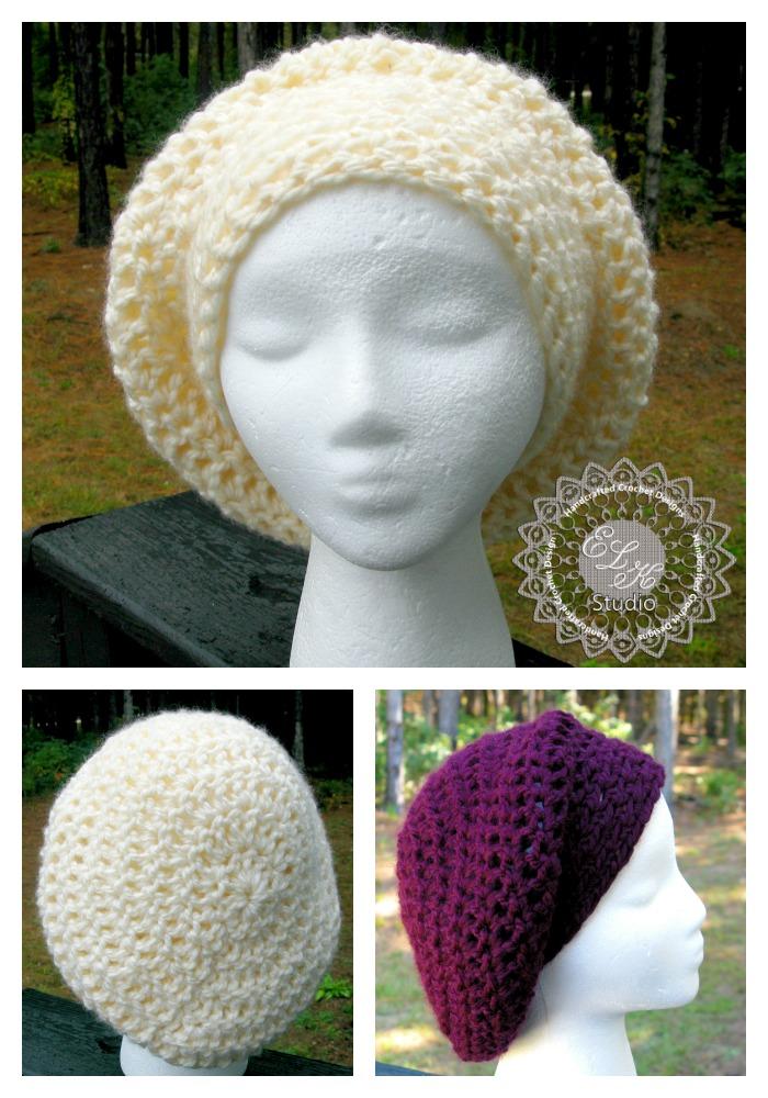 Incredibly Simple Slouchy Hat - Free Pattern! - ELK Studio ...