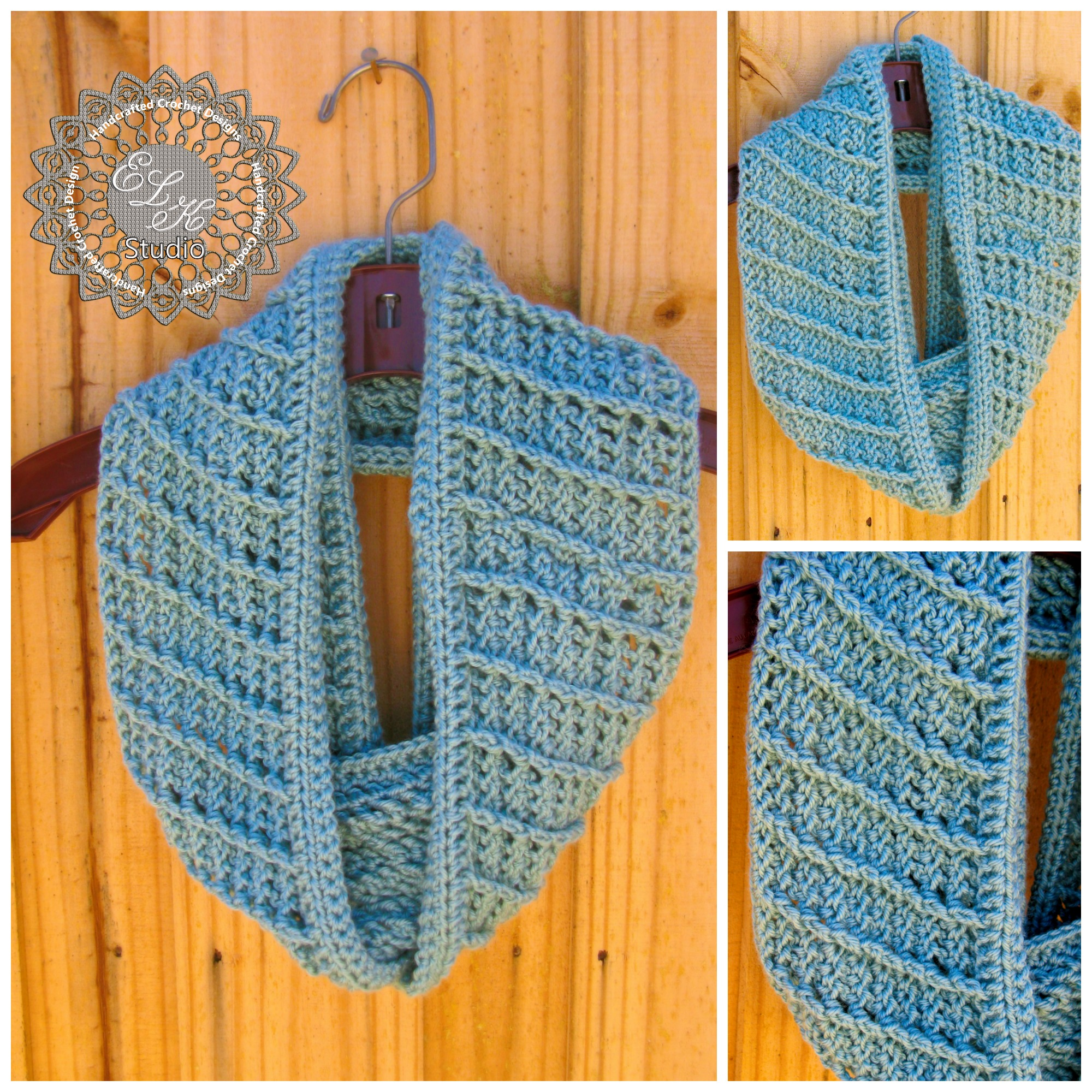 Free Patterns To And Crochet Infinity Scarf : Country Appeal - A Free Crochet Infinity Scarf Pattern ...