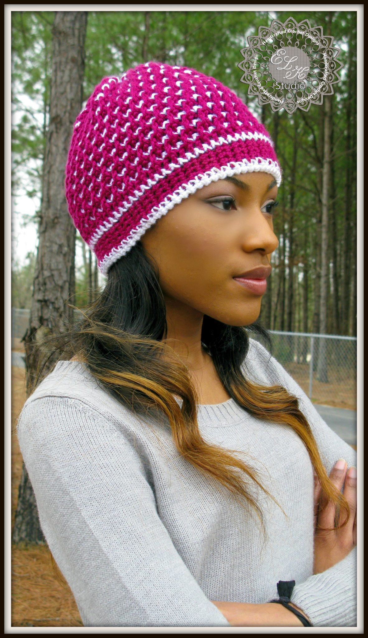 Morning Frost - A Free Crochet Hat Pattern by ELK Studio