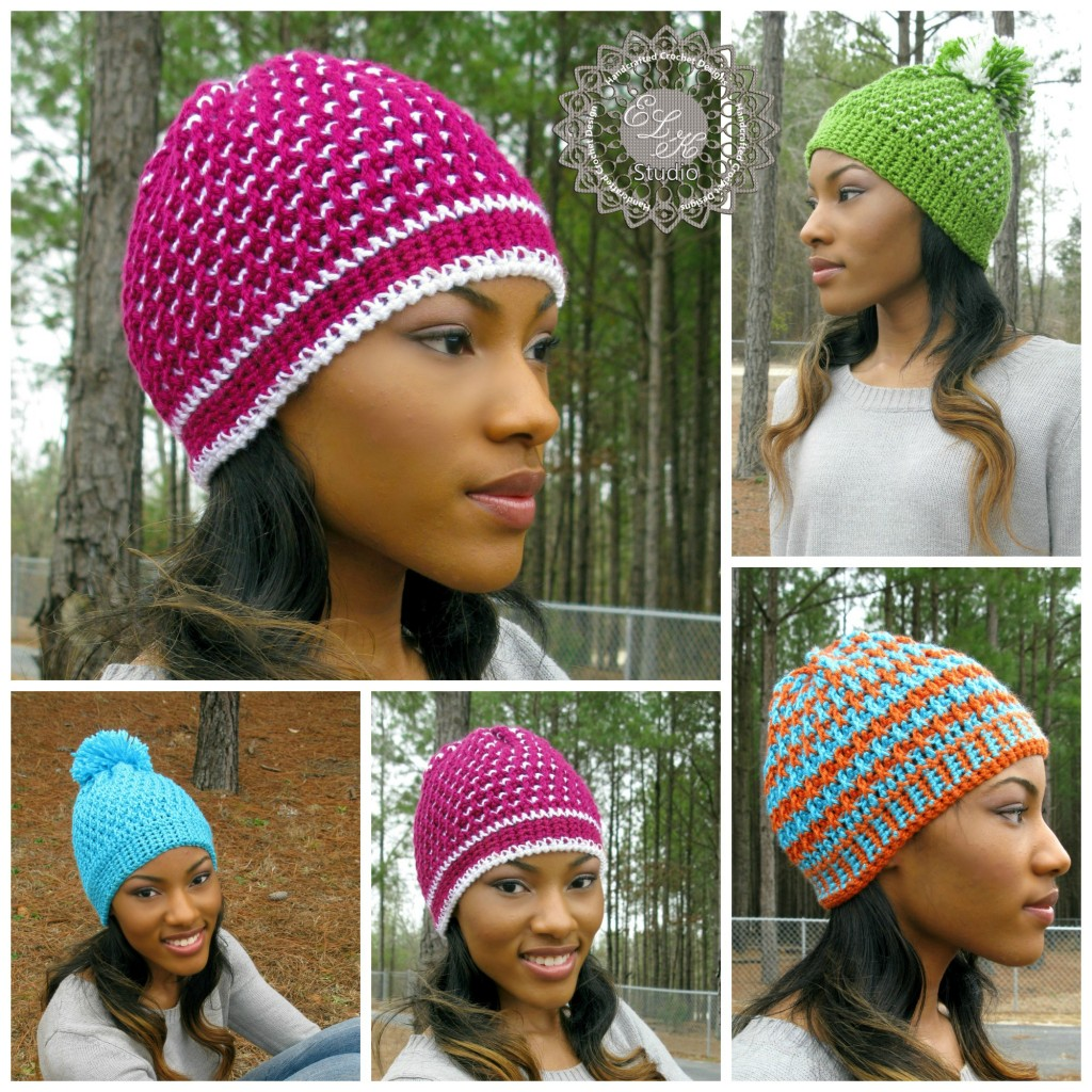 Free Crochet Pattern Link Hat : Morning Frost - A Free Crochet Hat Pattern - ELK Studio ...