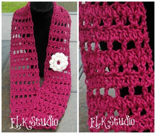 Fresh Air A Free Crochet Summer Scarf Elk Studio