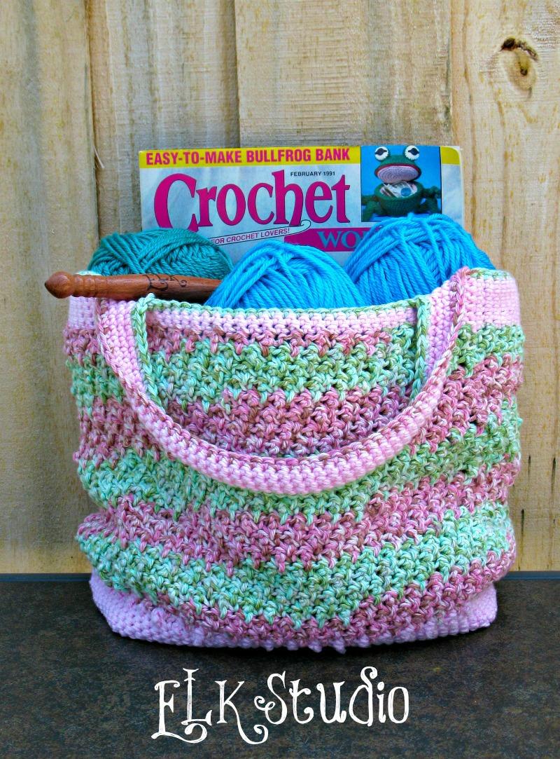 Crochet Summer Bag : Honeysuckle - A Free Crochet Summer Bag