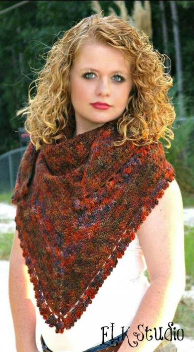 Pumpkin Spice Shawl - by ELK Studio