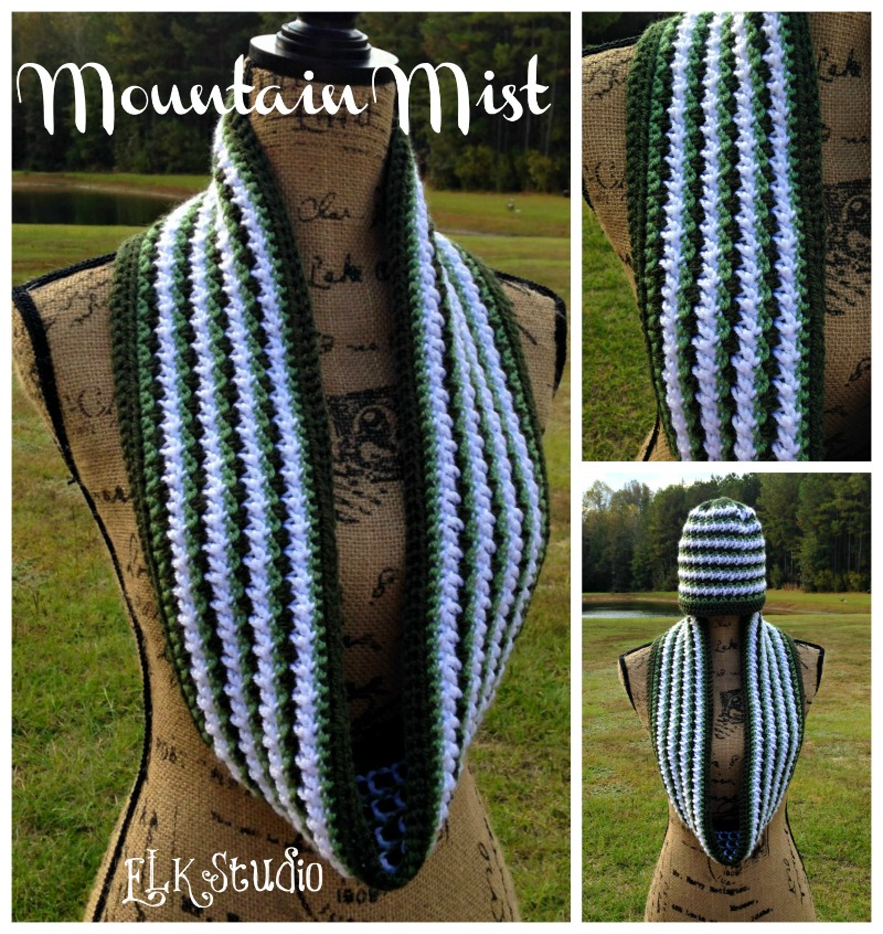 Mountain Mist is a FREE Crochet Scarf Pattern by ELK Studio #Crochet #Scarf