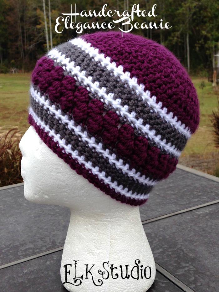 Crochet A Beanie : ... Elegance Beanie - A FREE Crochet Beanie by ELK Studio #crochet #beanie