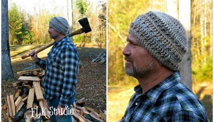 Hickory Bark - Free Crochet Pattern by ELK Studio #beanie #crochet #mens hat