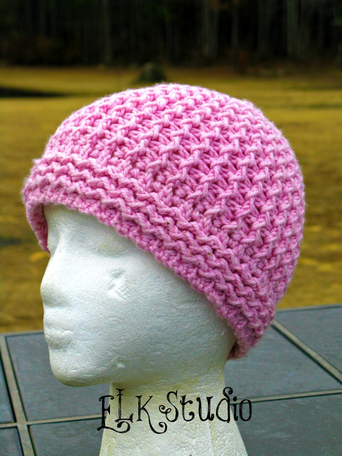 Free Patterns Crochet Beanies : Just Groovin Crochet Beanie by ELK Studio