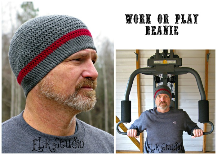 Work Or Play Beanie A Free Crochet Pattern By Elk Studio