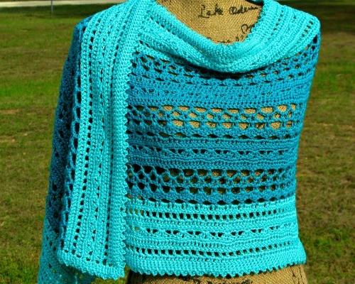 Ocean Splash Wrap by ELK Studio #Wrap #Crochet #Shawl Featured Image