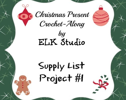 Christmas Present Crochet-Along Project List #1 by ELK Studio Featured Image