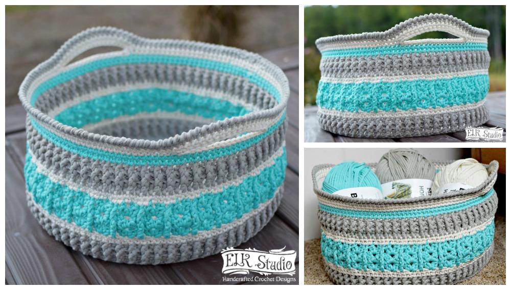 Moroccan Basket Free Crochet Pattern : Christmas Present CAL 2016 Project # 3 Week 1 - ELK Studio ...