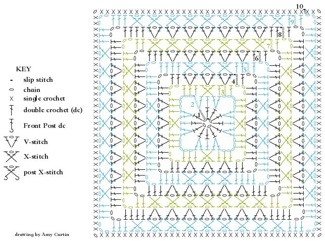 Summer Wood Square - ELK Studio - Handcrafted Crochet Designs